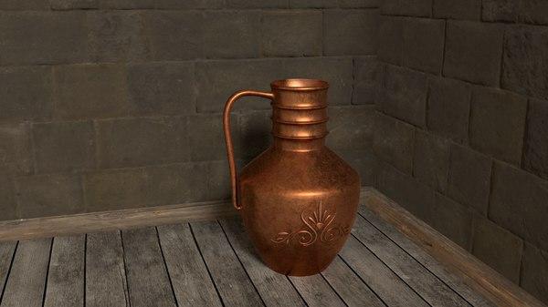 3D model copper jug