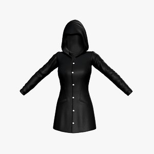 3D hooded coat