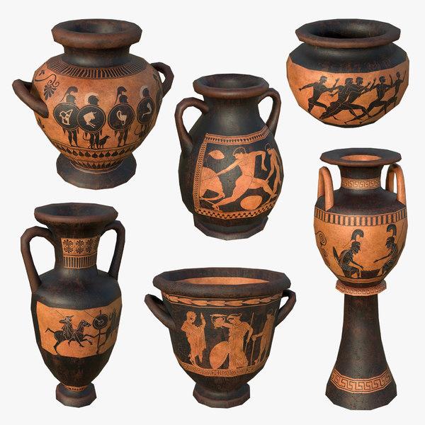 3D model greek pottery