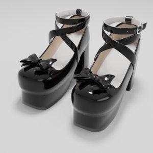 lolita shoes 3D model