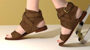 3D s sandals women shoes model