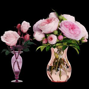flowers bouquet rose 3D model