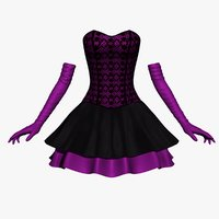 3D corset dress