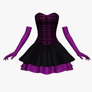 3D corset dress