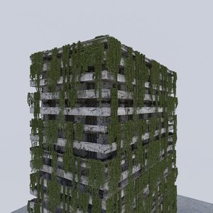 post apocalypse building 3D model