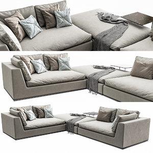 3D hamilton sofa model