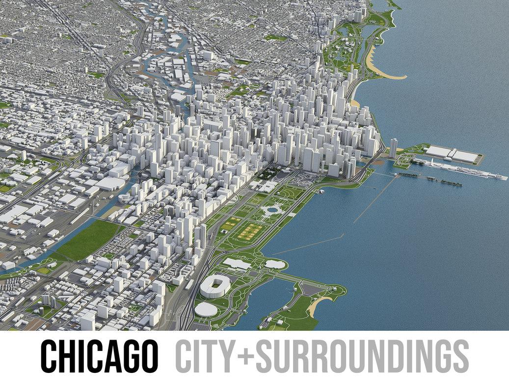 chicago city 3D