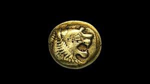 3D model sardeis electrum coin