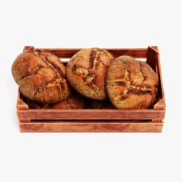 3D breads box model