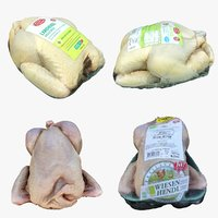 3D model chicken packages