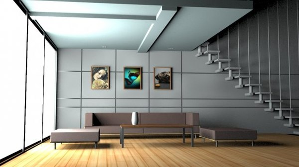 house interior 3D