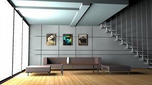 house interior 3D