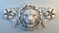 Lion Bas-Relief CNC