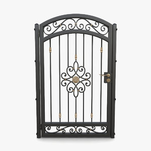 3D wrought iron gate 04 model