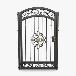 3D wrought iron gate 04 model