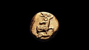 3D electrum coin