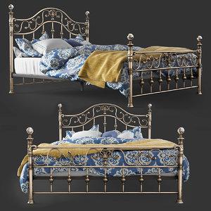 3D bed tetchair charlotte model