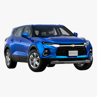 3D 2019 chevrolet blazer 3lt model