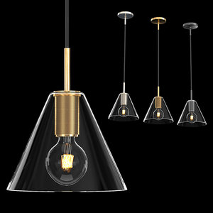 3D utilitaire funnel shade pendant