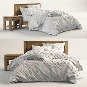 walker natural bed 3D model