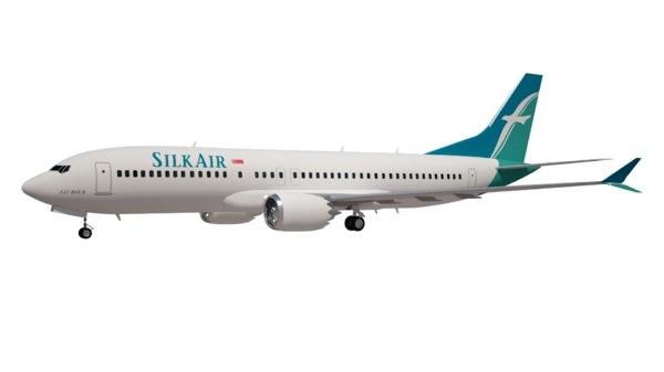 3D silk air boeing 737 model