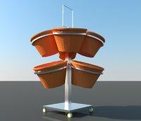 3d design for supermarket  vegetables basket