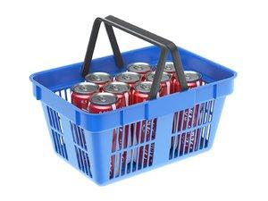 basket drink shopping 3D
