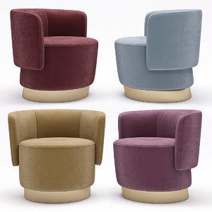 3D model armchair baxter anais