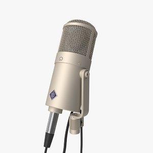 3D neumann u47 condenser microphone model