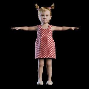 baby girl 3D model