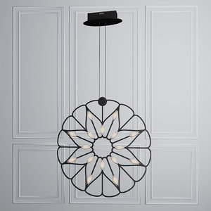 3D model hanging lamp maytony volare