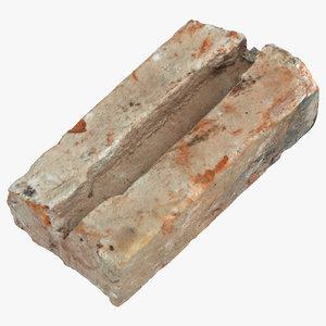 broken brick 01 3D model