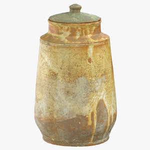 3D clay pot 04