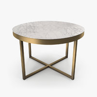 marble table 3D model