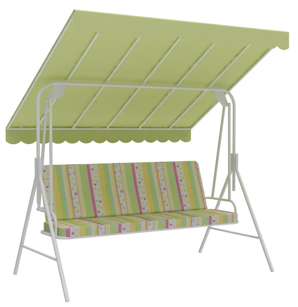 outdoor seats swing bench 3D
