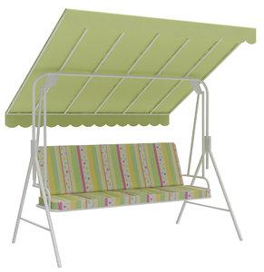outdoor seats swing bench 3D