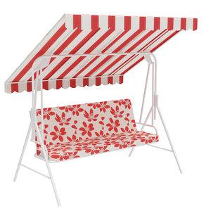 outdoor swing bench 3D model