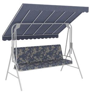 outdoor seats swing bench model