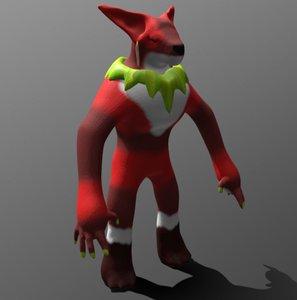 3D monster shaman model