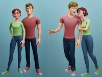 Alex and Nina Cartoon characters