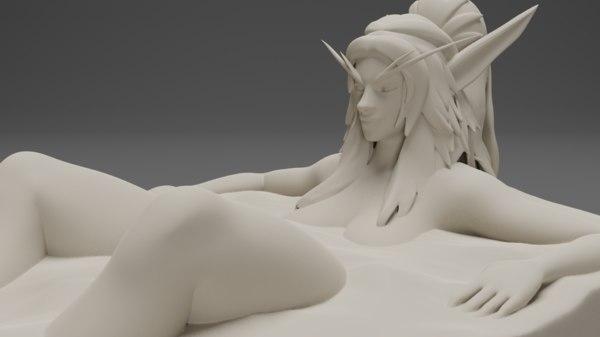 sexy elf bath model