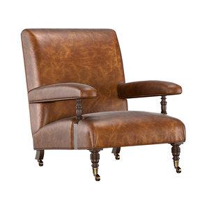 armchair 1880s belgian 3D model
