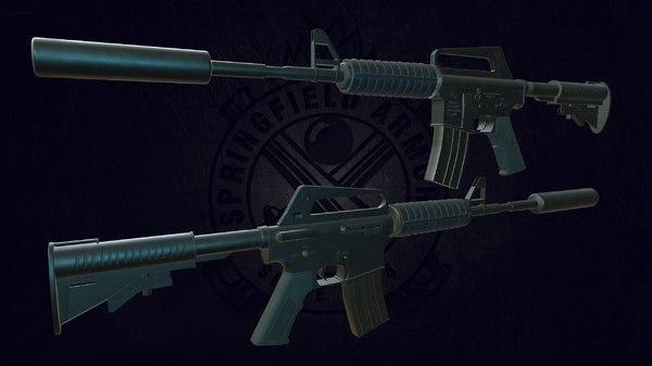 3D m4a1 weapon model