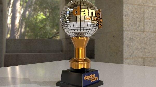 disco ball trophy dancing 3D model