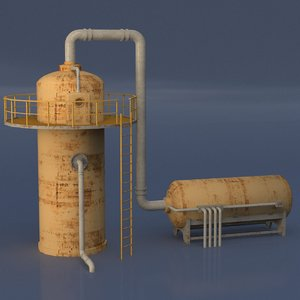 gas pipe 3D
