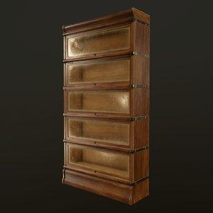 antique bookcase ready pbr 3D