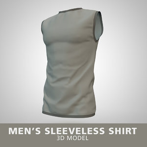 mens sleeveless shirt 3D model