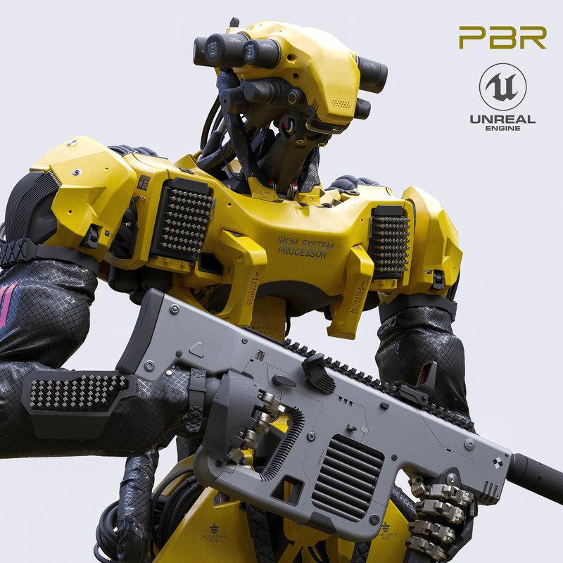 interceptor robot character unreal model