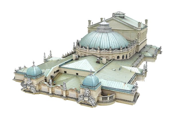 theater roof 3D model