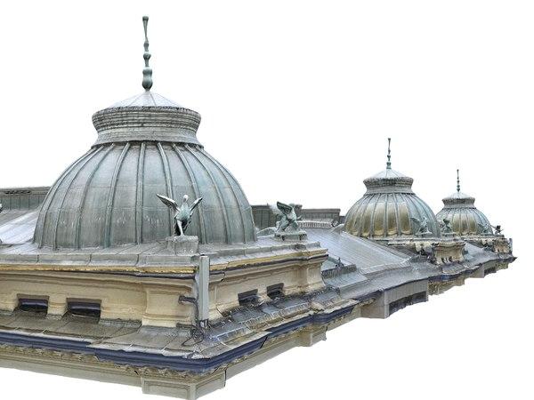 3D roof building model